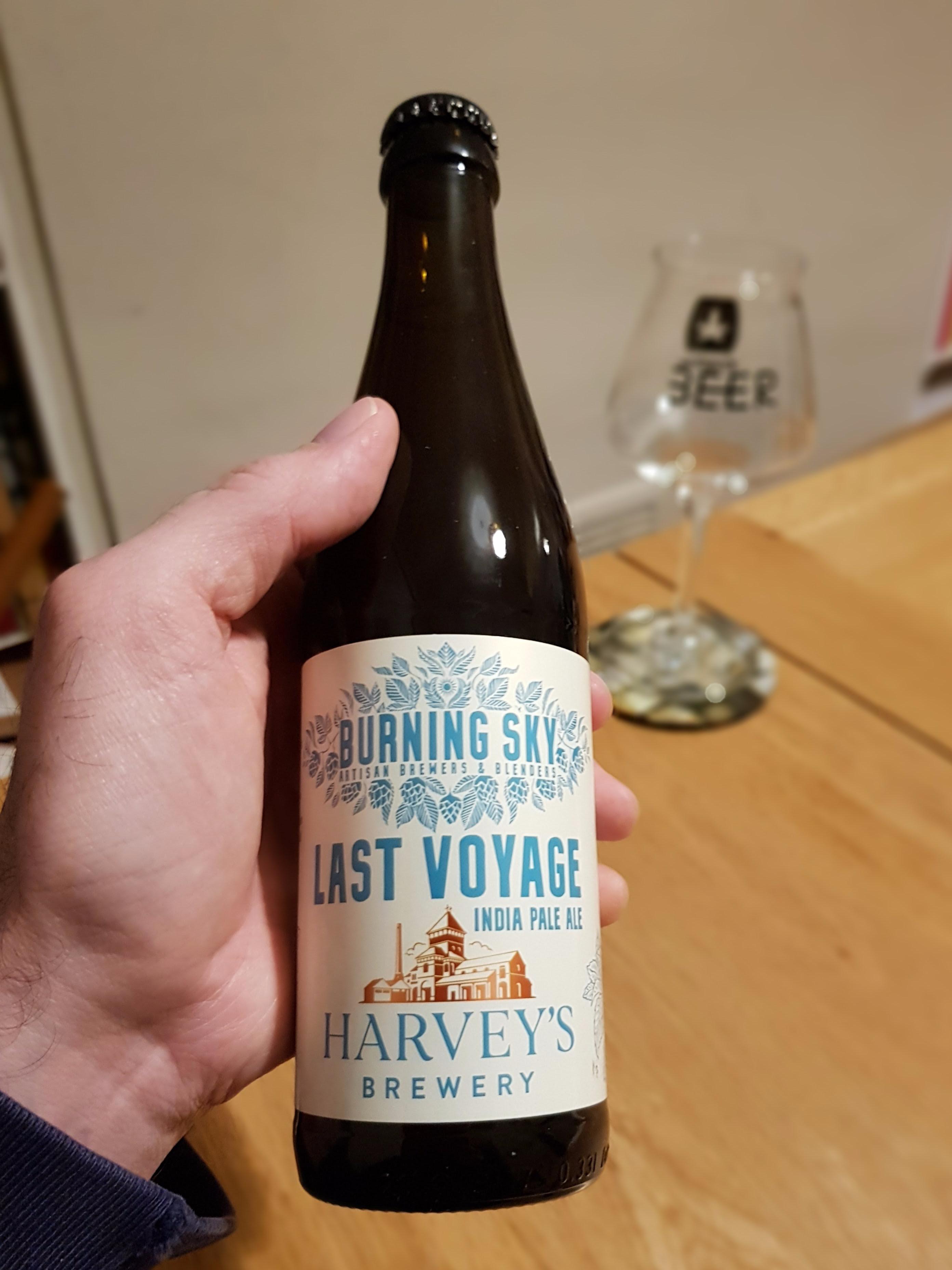 Burning Sky x Harvey's, Last Voyage IPA